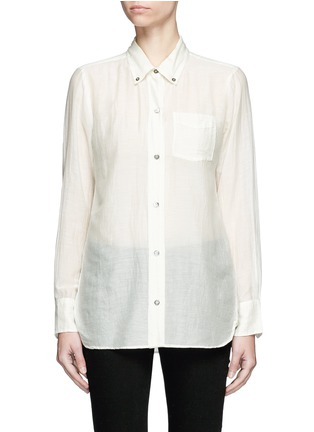 Main View - Click To Enlarge - Isabel Marant Étoile - 'Lindsey' sheer cotton silk shirt