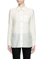 'Lindsey' sheer cotton silk shirt