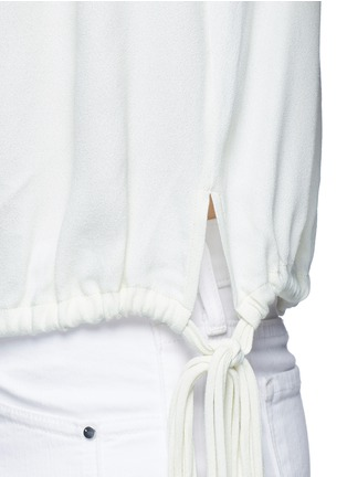 Detail View - Click To Enlarge - Isabel Marant Étoile - 'Nathael' rouleau loop button shoulder top