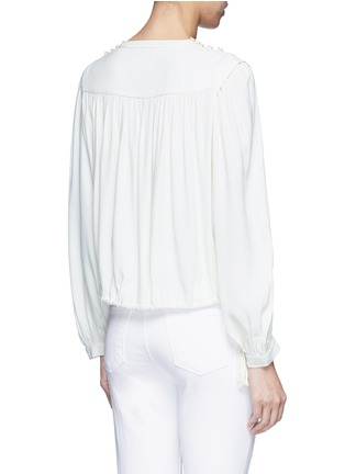 Back View - Click To Enlarge - Isabel Marant Étoile - 'Nathael' rouleau loop button shoulder top