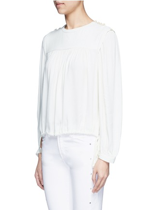 Front View - Click To Enlarge - Isabel Marant Étoile - 'Nathael' rouleau loop button shoulder top