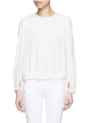 Main View - Click To Enlarge - Isabel Marant Étoile - 'Nathael' rouleau loop button shoulder top