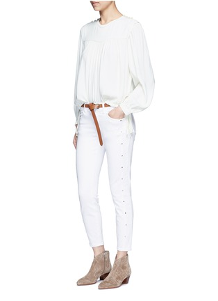 Figure View - Click To Enlarge - Isabel Marant Étoile - 'Nathael' rouleau loop button shoulder top