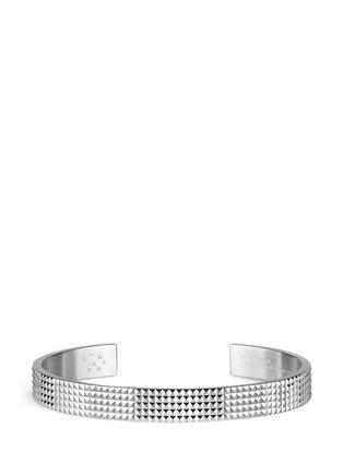 Le Gramme-'Guilloché Le 23 Grammes' stud sterling silver cuff