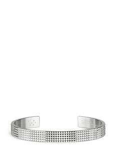 Le Gramme'Guilloché Le 23 Grammes' stud sterling silver cuff
