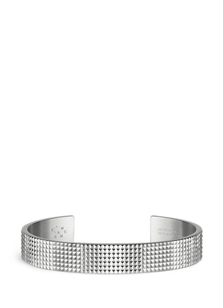 Main View - Click To Enlarge - Le Gramme - 'Guilloché Le 33 Grammes' stud sterling silver cuff