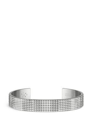 Le Gramme-'Guilloché Le 33 Grammes' stud sterling silver cuff