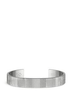 Le Gramme'Guilloché Le 33 Grammes' stud sterling silver cuff