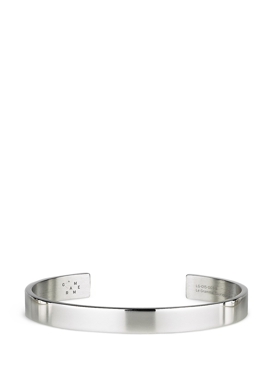 Le 21 Grammes polished sterling silver cuff by Le Gramme