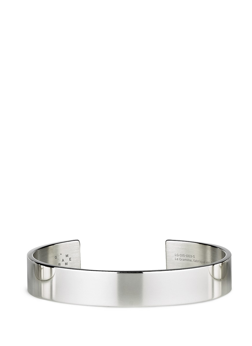 Le 33 Grammes polished sterling silver cuff by Le Gramme