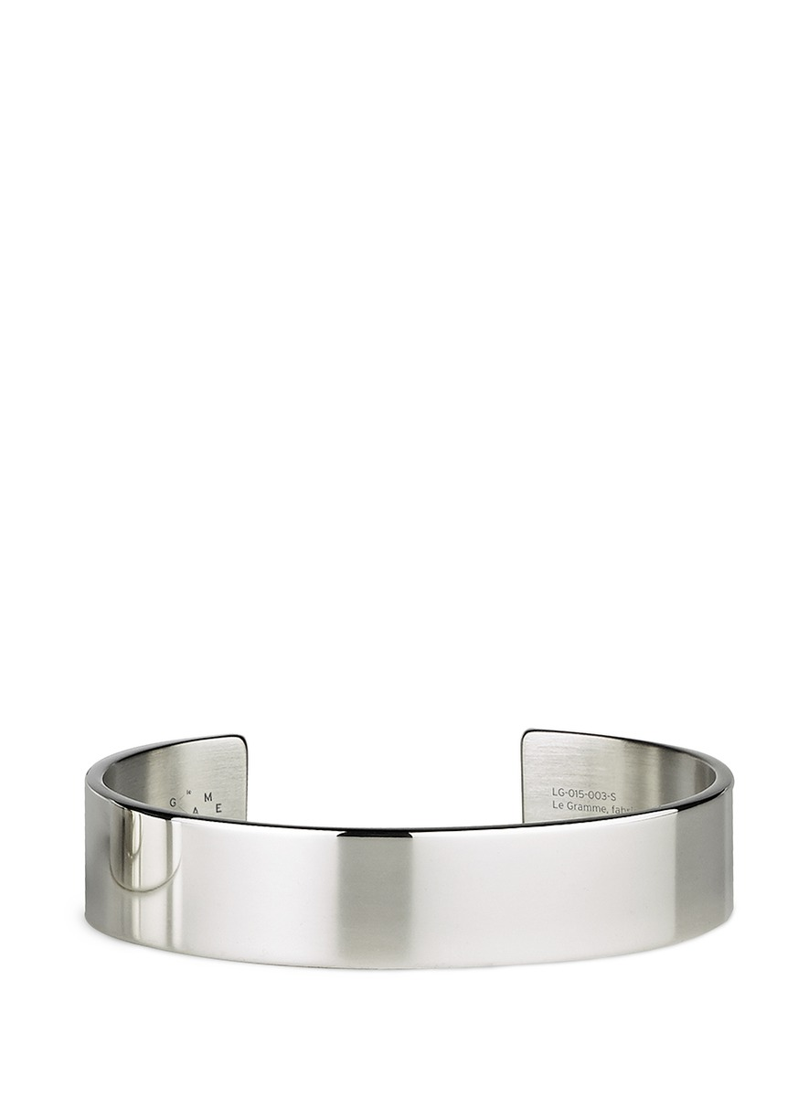 Le 41 Grammes polished sterling silver cuff by Le Gramme