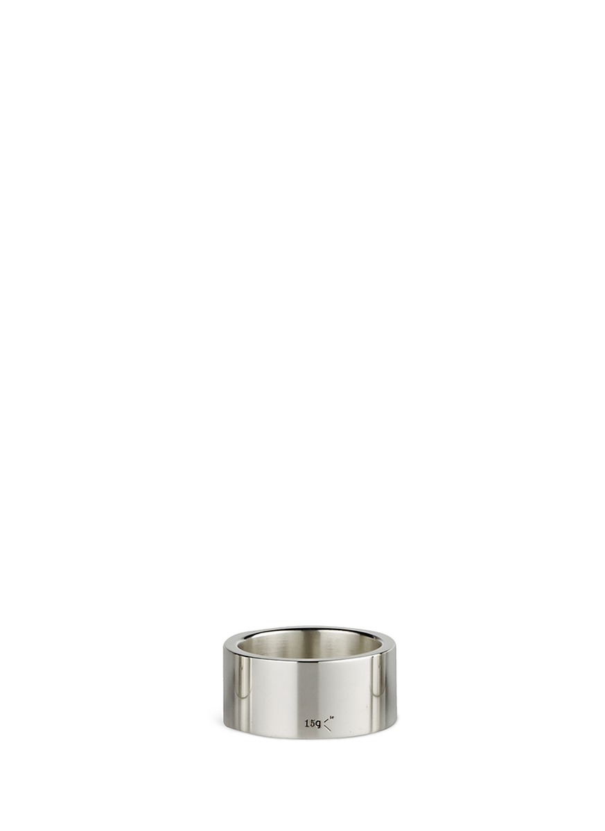 Le 15 Grammes polished sterling silver ring by Le Gramme