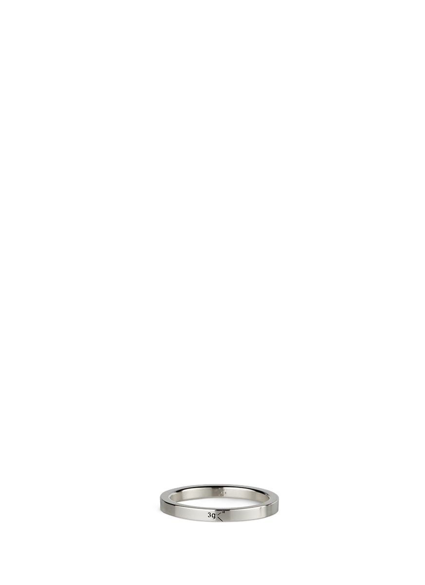 Le 3 Grammes polished sterling silver ring by Le Gramme