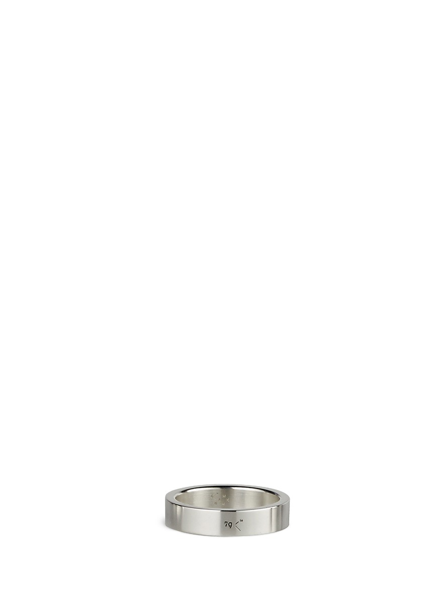 Le 7 Grammes polished sterling silver ring by Le Gramme