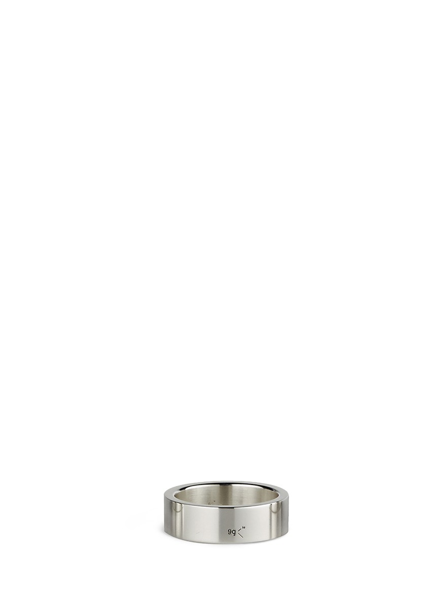 Le 9 Grammes polished sterling silver ring by Le Gramme