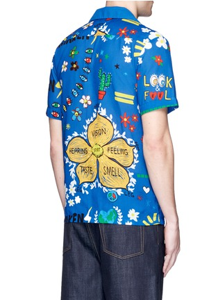 Back View - Click To Enlarge - Adidas By Pharrell Williams - 'Doodle' print shirt