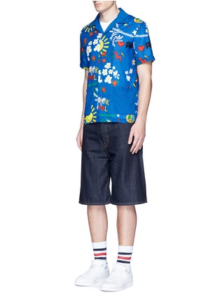 Figure View - Click To Enlarge - Adidas By Pharrell Williams - 'Doodle' print shirt