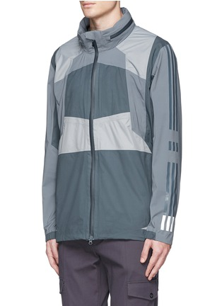 Front View - Click To Enlarge - Adidas By White Mountaineering - Patchwork shell jacket
