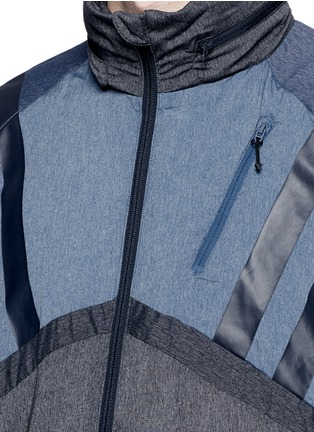 Detail View - Click To Enlarge - Adidas By White Mountaineering - Patchwork windbreaker jacket