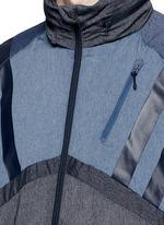 Patchwork windbreaker jacket