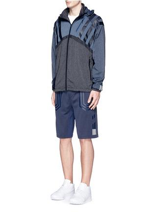 Adidas By White Mountaineering-Patchwork windbreaker jacket