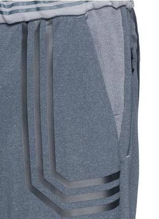 Detail View - Click To Enlarge - Adidas By White Mountaineering - Patchwork sweat shorts