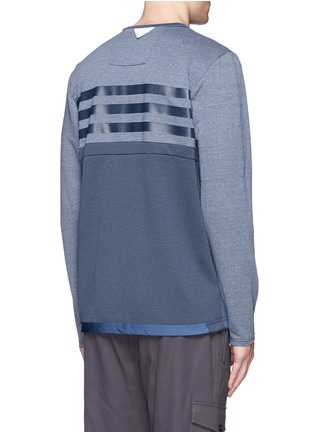 Back View - Click To Enlarge - Adidas By White Mountaineering - Patchwork Henley shirt