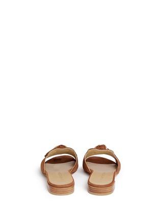 Back View - Click To Enlarge - Stuart Weitzman - 'Two Tassels' suede slide sandals
