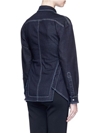 Back View - Click To Enlarge - Stella McCartney - 'Irene' asymmetric wrap front denim shirt