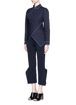 Figure View - Click To Enlarge - Stella McCartney - 'Irene' asymmetric wrap front denim shirt