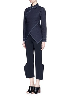 STELLA MCCARTNEY 'Irene' asymmetric wrap front denim shirt