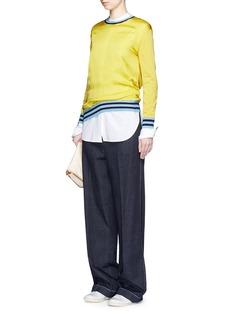 STELLA MCCARTNEYContrast stripe silk front combo sweater