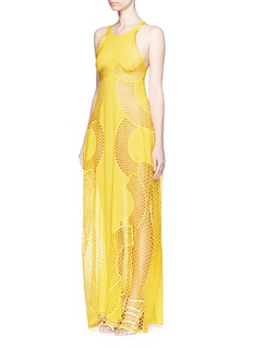 STELLA MCCARTNEY'Valerie' racerback embrodered mesh lace gown