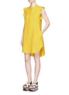 STELLA MCCARTNEY Ruffle trim piqué polo shirt dress