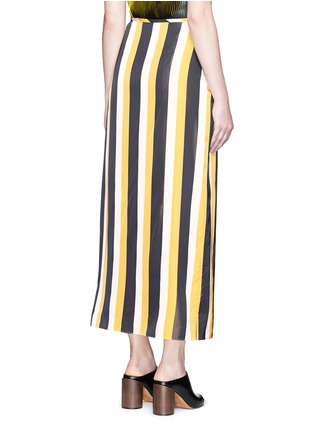 Back View - Click To Enlarge - Stella McCartney - 'Darmouth' contrast stripe asymmetric cropped pants
