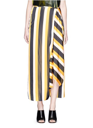 Main View - Click To Enlarge - Stella McCartney - 'Darmouth' contrast stripe asymmetric cropped pants