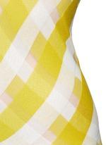 'Transparent Checks' crisscross stripe racerback top