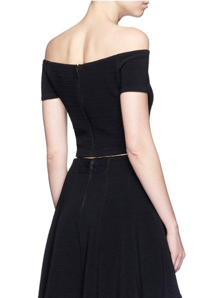 Back View - Click To Enlarge - alice + olivia - 'Gracelyn' off-shoulder cropped top