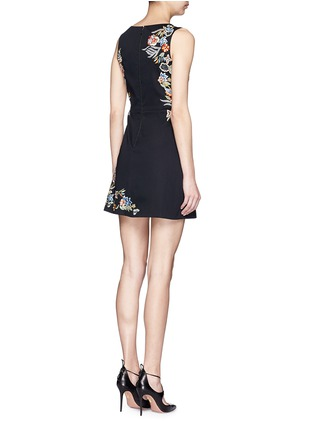 Back View - Click To Enlarge - alice + olivia - ''Malin' floral embroidered dress