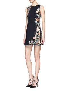 ALICE + OLIVIA ''Malin' floral embroidered dress
