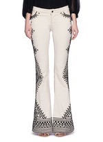 'Ryley' tribal embroidery flare jeans