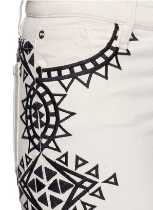 Detail View - Click To Enlarge - alice + olivia - 'Ryley' tribal embroidery flare jeans