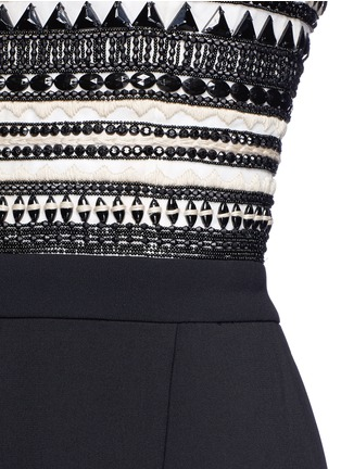 Detail View - Click To Enlarge - alice + olivia - 'Emberly' beaded bodice strapless gaucho jumpsuit