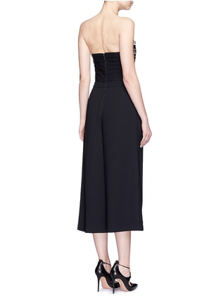 Back View - Click To Enlarge - alice + olivia - 'Emberly' beaded bodice strapless gaucho jumpsuit