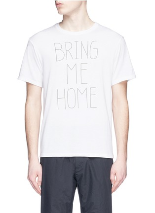 Main View - Click To Enlarge - Nanamica - 'BRING ME HOME' print COOLMAX® jersey T-shirt