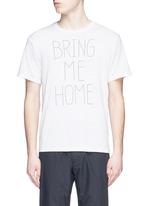 'BRING ME HOME' print COOLMAX® jersey T-shirt