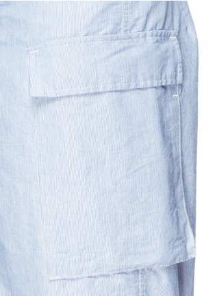 Detail View - Click To Enlarge - Nanamica - Stripe dobby cargo shorts