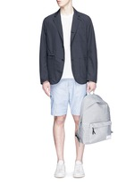 Stripe dobby cargo shorts