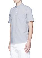 Stripe seersucker wind shirt