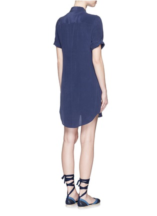 Back View - Click To Enlarge - Equipment - 'Slim Signature' short sleeve shirt dress